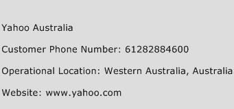 Yahoo Australia Phone Number Customer Service
