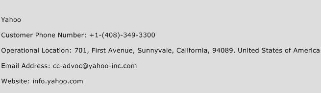 Yahoo Phone Number Customer Service