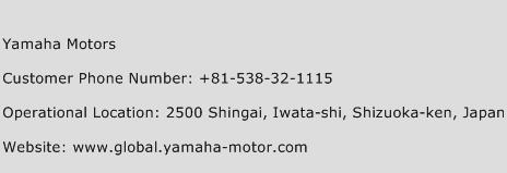 Yamaha Motors Phone Number Customer Service