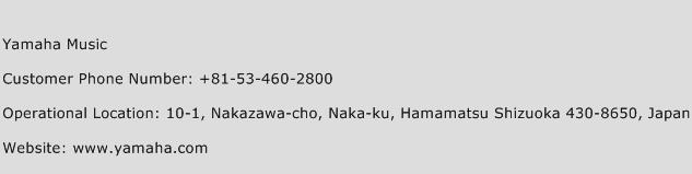 Yamaha Music Phone Number Customer Service