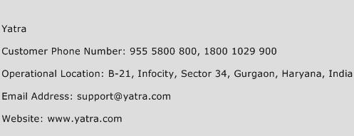 Yatra Phone Number Customer Service
