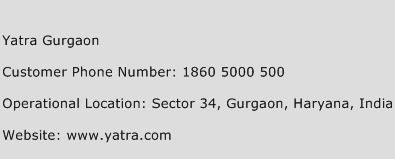 Yatra Gurgaon Phone Number Customer Service