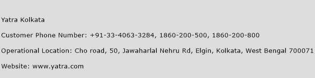 Yatra Kolkata Phone Number Customer Service