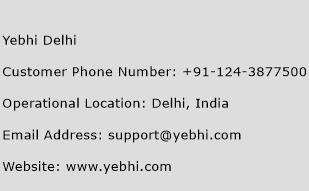 Yebhi Delhi Phone Number Customer Service