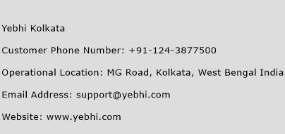 Yebhi Kolkata Phone Number Customer Service