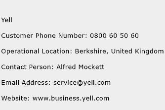Yell Phone Number Customer Service