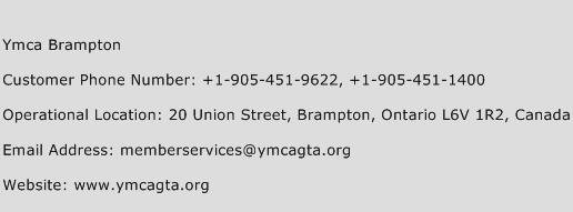Ymca Brampton Phone Number Customer Service