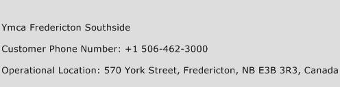Ymca Fredericton Southside Phone Number Customer Service