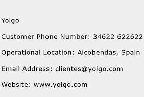 Yoigo Phone Number Customer Service