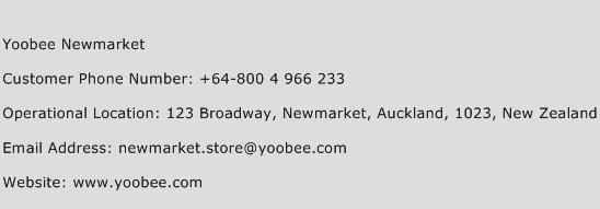 Yoobee Newmarket Phone Number Customer Service