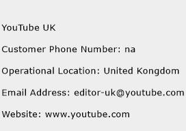 YouTube UK Phone Number Customer Service