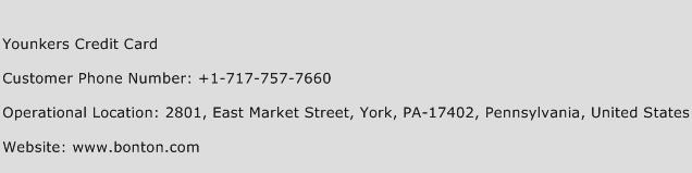 Younkers Credit Card Phone Number Customer Service