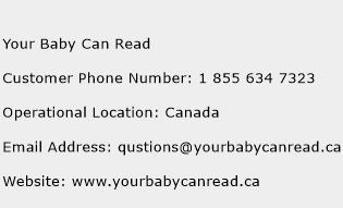 Your Baby Can Read Phone Number Customer Service