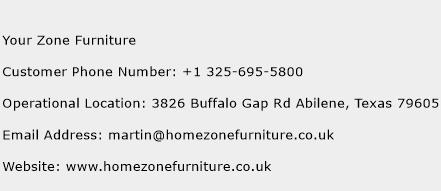 Your Zone Furniture Phone Number Customer Service
