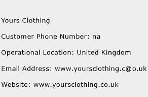 Yours Clothing Phone Number Customer Service
