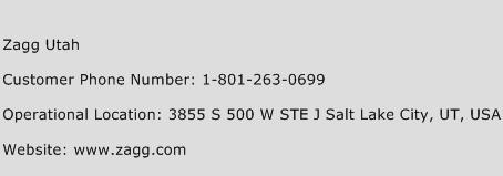 Zagg Utah Phone Number Customer Service
