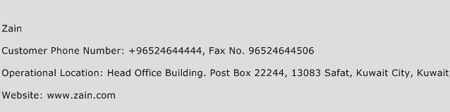 Zain Phone Number Customer Service