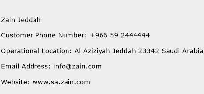 Zain Jeddah Phone Number Customer Service