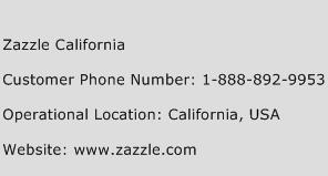 Zazzle California Phone Number Customer Service