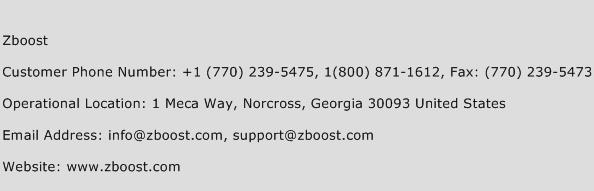 Zboost Phone Number Customer Service