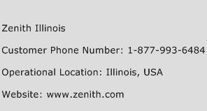 Zenith Illinois Phone Number Customer Service