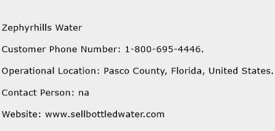 Zephyrhills Water Phone Number Customer Service