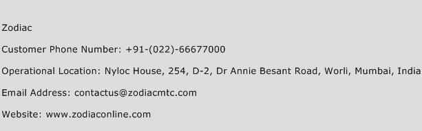 Zodiac Phone Number Customer Service