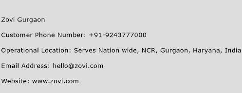 Zovi Gurgaon Phone Number Customer Service