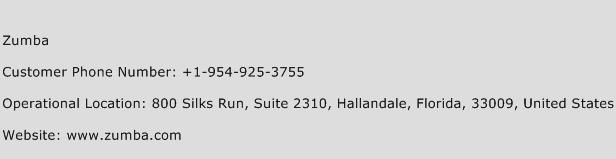 Zumba Phone Number Customer Service