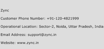 Zync Phone Number Customer Service