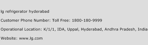 lg refrigerator hyderabad Phone Number Customer Service
