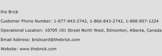 the Brick Phone Number Customer Service