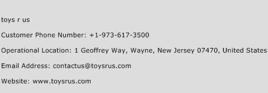 toys r us Phone Number Customer Service