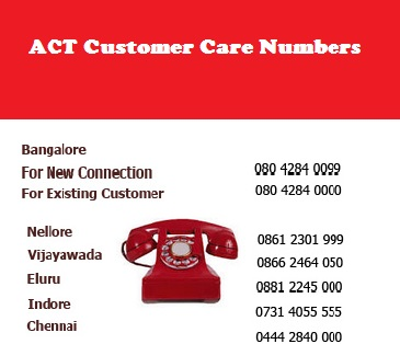 Act Broadband customer care number 3406 3