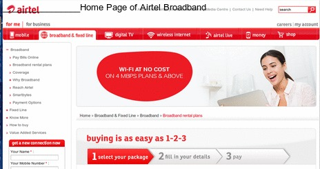Airtel Broadband customer care number 17542 1