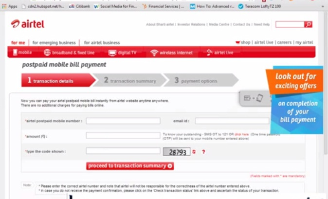 Postpaid Airtel customer care number