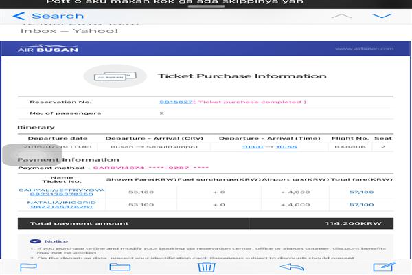 Air Busan English Customer Service Phone Number Contact