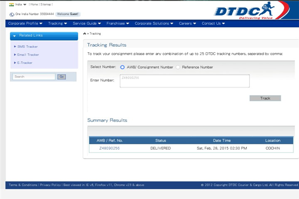 Dtdc Cochin Phone Number Customer Care Service