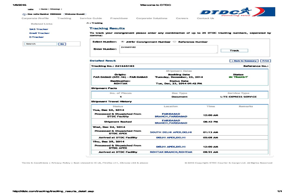 Dtdc Courier Delhi Phone Number Customer Care Service