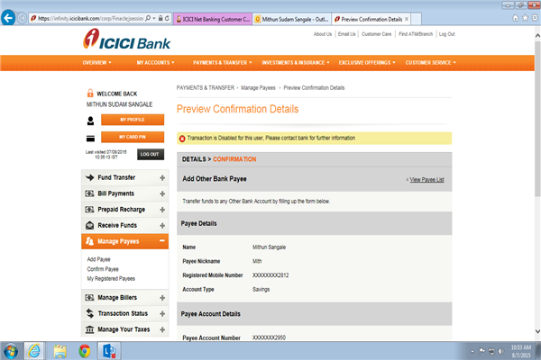 ICICI Net Banking Phone Number Customer Care Service