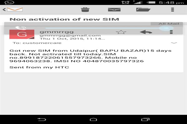 Idea Udaipur Phone Number Customer Care Service