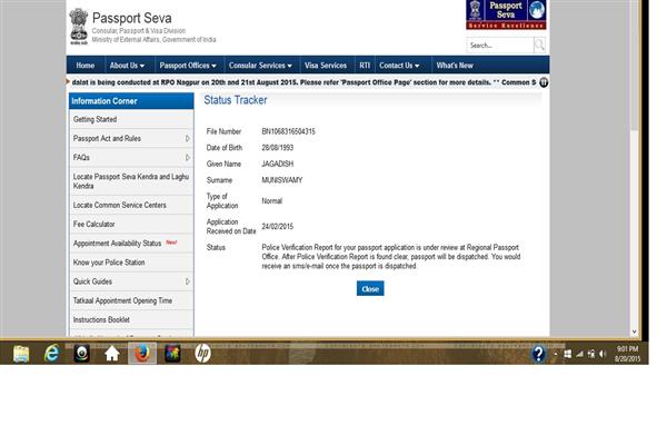 Passport Office Bangalore Phone Number Customer Care Service