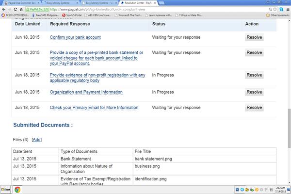 Customer Service Paypal Usa