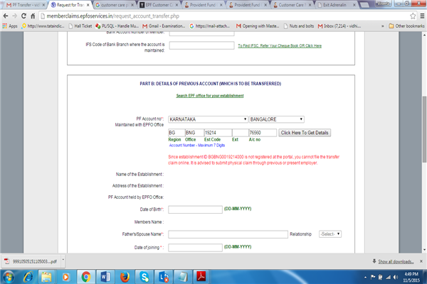 Provident Fund Office Delhi Phone Number Customer Care Service