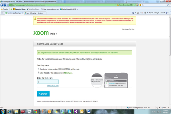 Xoom Phone Number Customer Care Service